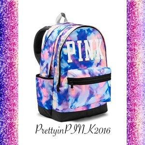 VS PINK TIE DYE CAMPUS BACKPACK NEW NWT